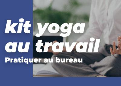 Kit yoga au bureau